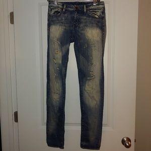Denim & Supply blue frayed jeans